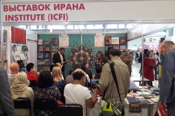 Russian Iranologists visit Iran's stand at MIBF