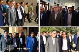 بازدید وزیر فرهنگ و ارشاد اسلامی از مراحل آمادهسازی نمایشگاه کتاب