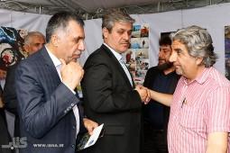 آغاز کار غرفه زلزله و آوار در نمایشگاه کتاب تهران