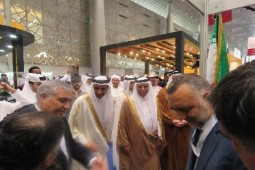 Qatari officials visit Iran's stand at Doha Book Fair
