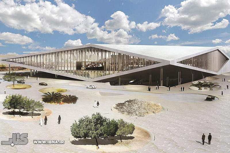 طراحی ساختمان این کتابخانه به گونه ایی می باØد که لبه ساختمان از زمین Øدا Øده و سه سطح را ایØاد کرده که توسط مسیر و Ùله از یک دیگر Øدا Øده اند.