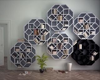 آخرین طراحی شرکت سوئدی برای قفسههای کتاب +عکس